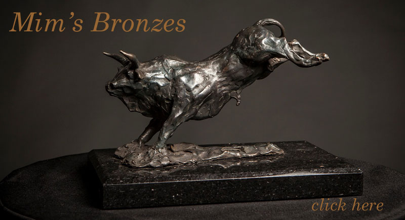 These Original Bronzes by Mim Scala are for sale. Each is a limited editions of ten. After which the moulds will be broken